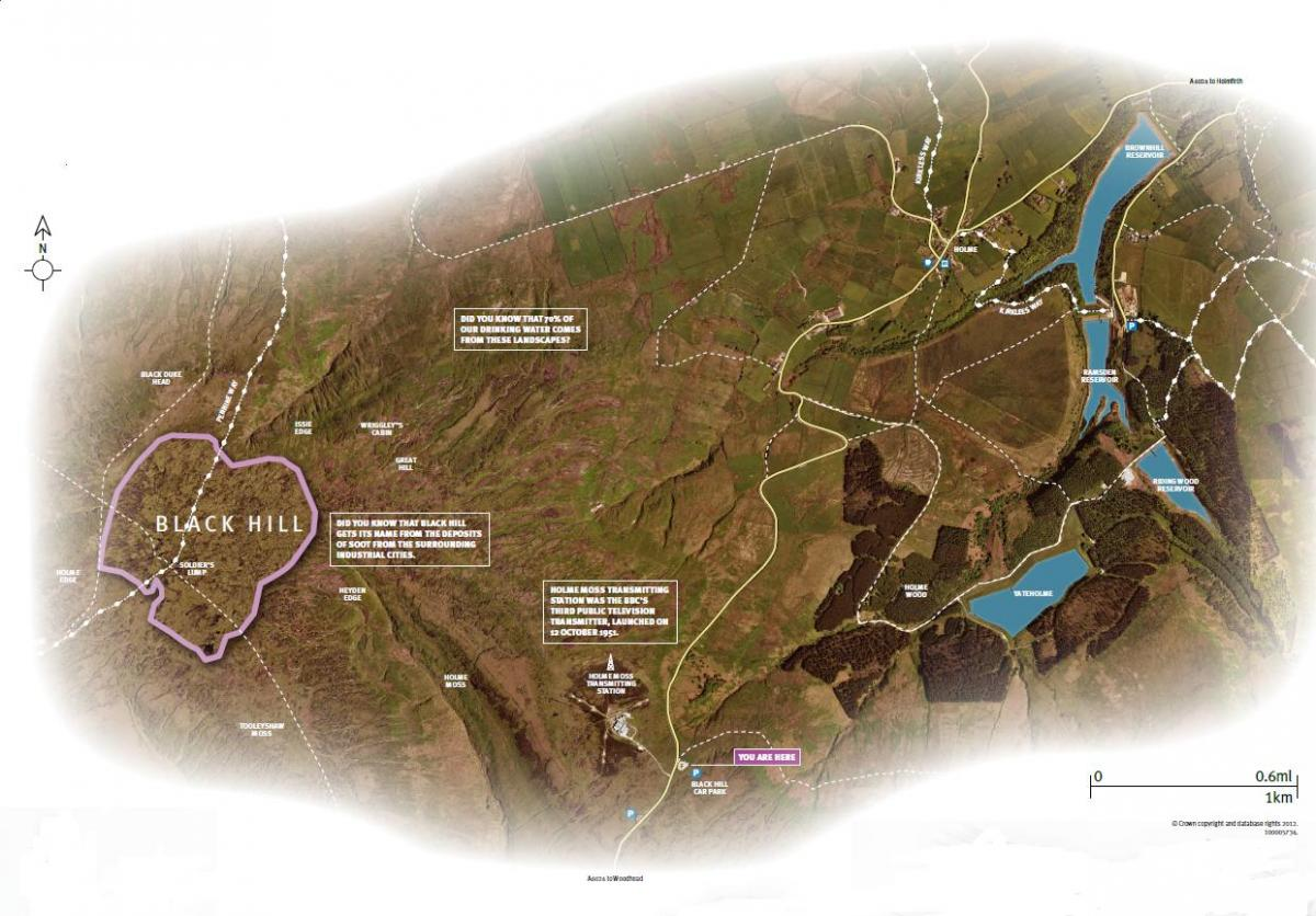 Map of Black Hill