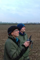 Dave and Tia flying the UAV