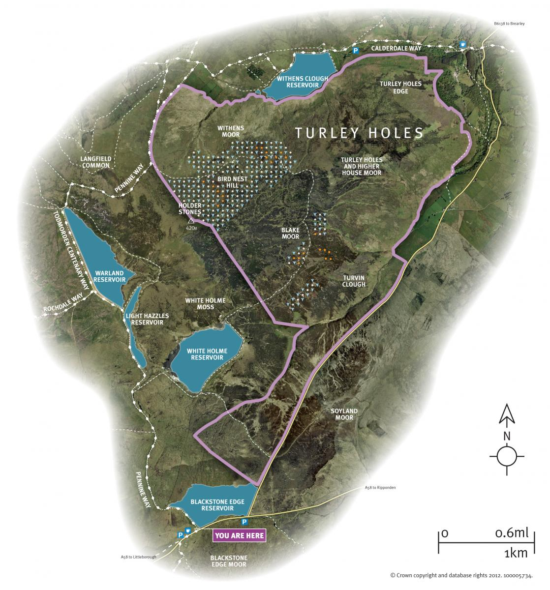 Map of Turley Holes