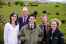 Defra Minister Rory Stuart, Acting Chair of the Environment Agency, Emma Howard Boyd, Natural England Chairman Andrew Sells and Sarah Fowler Chief Executive of the Peak District National Park Authority opening the MoorLIFE 2020 project