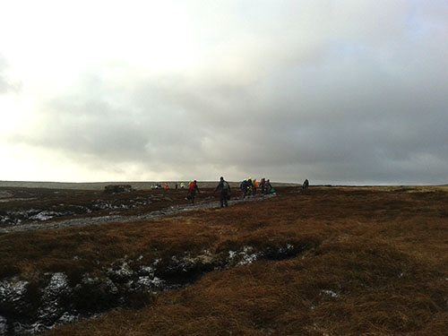 Group of workers at Bleaklow