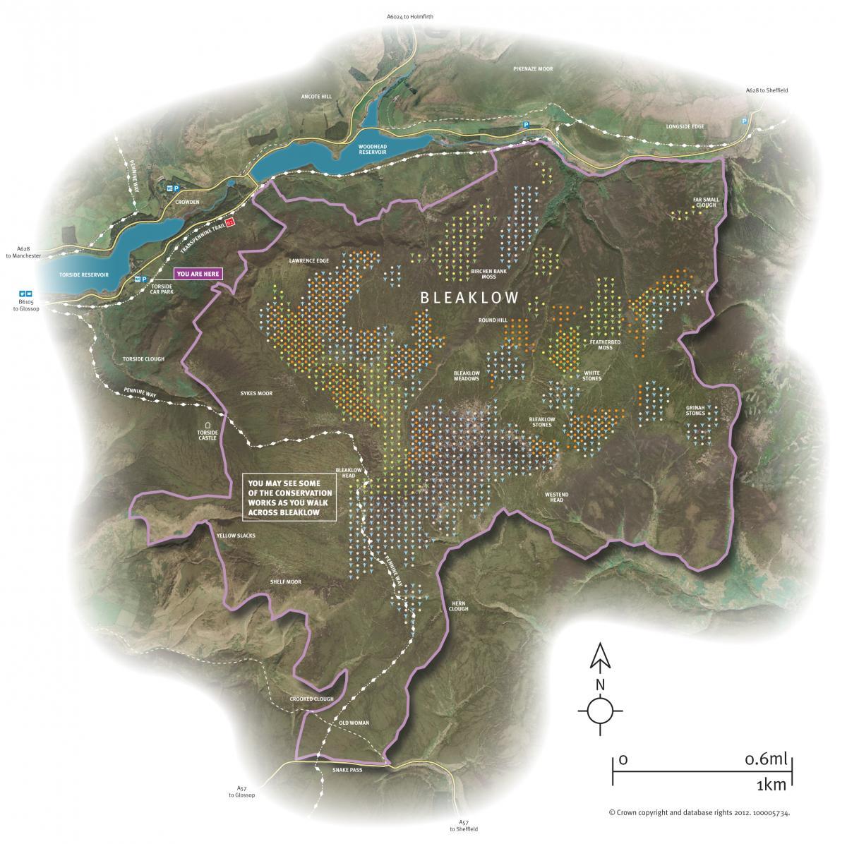 Map of Bleaklow