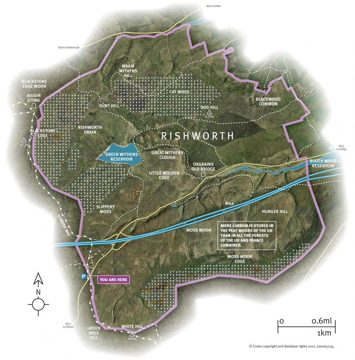 Map of rishworth