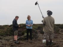 Earthrise crew filming at Bleaklow