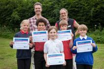 Children receiving MoorLIFE Awards