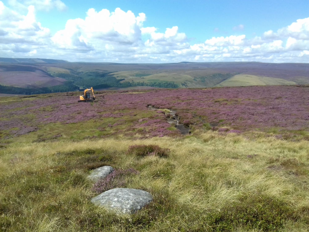 Digger on the moors