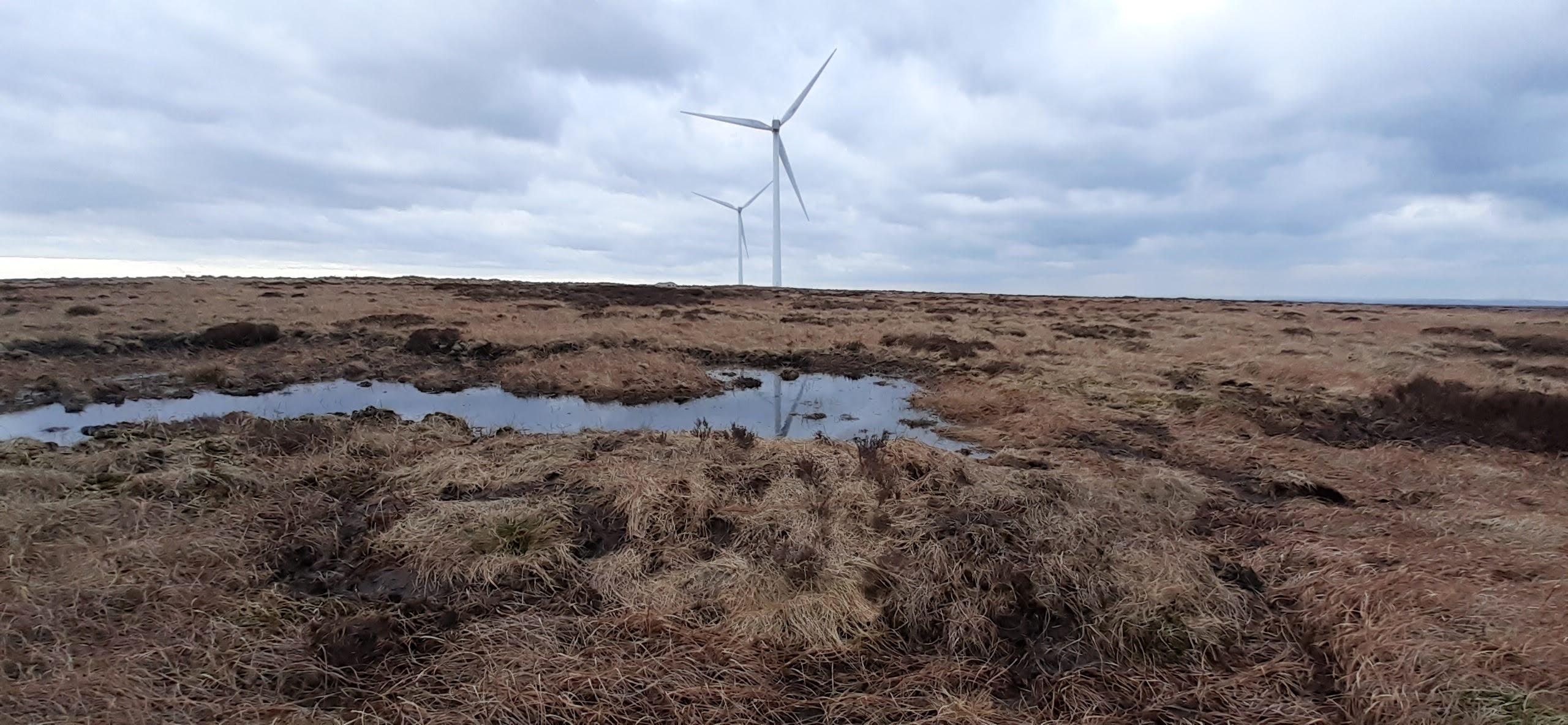 Bund on windfarm