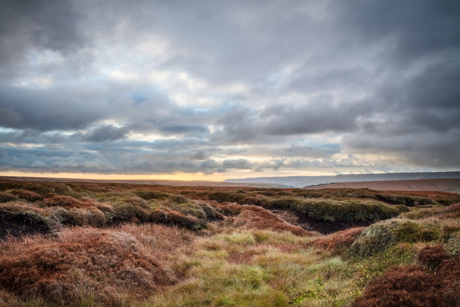 Stormy moorland landscape