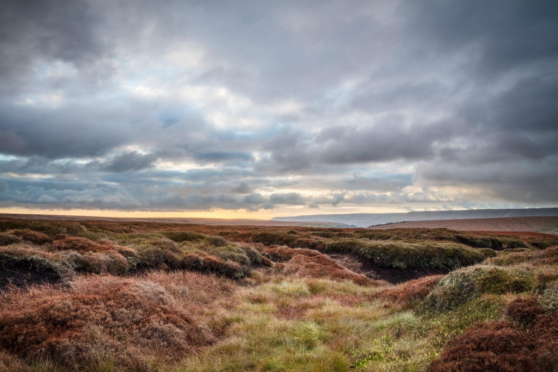 Stormy moorland landscape