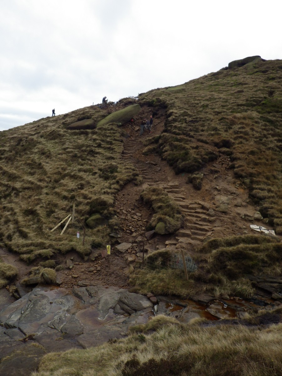 Crowden footpath works