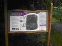 Image of a new MoorLIFE information panel