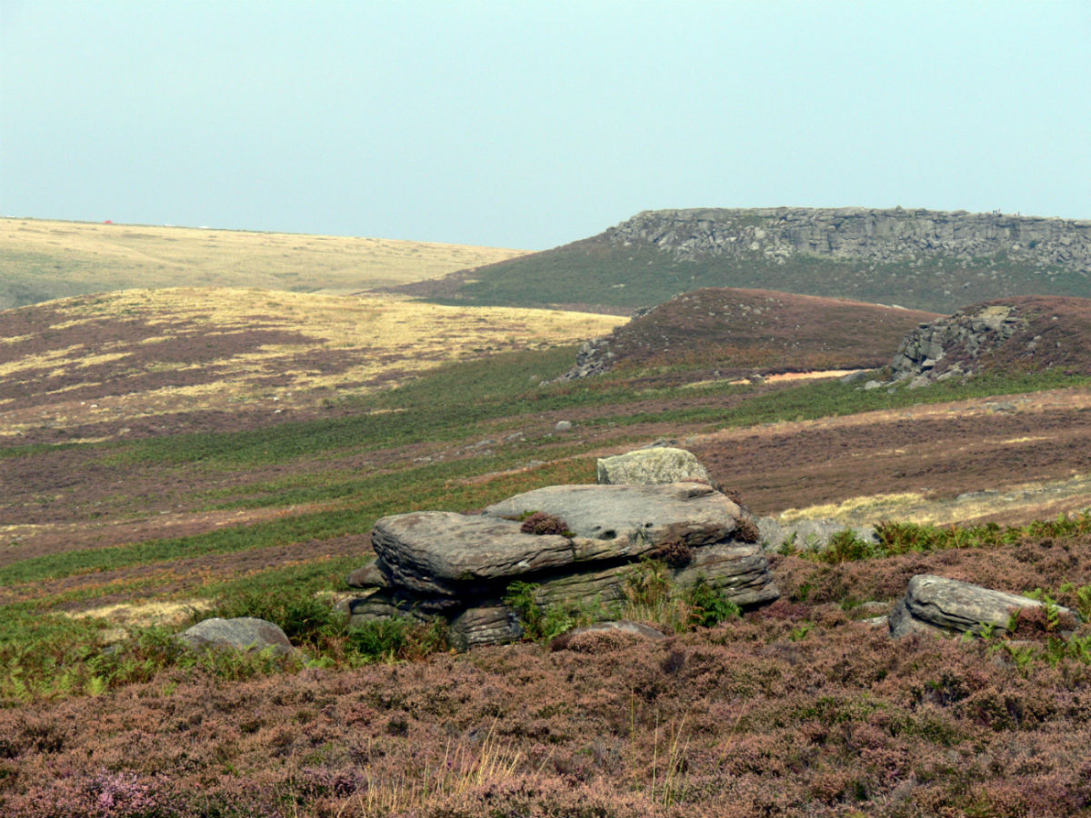 Image of hills above Hathersage