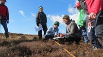 Group of junior rangers checking carbon content
