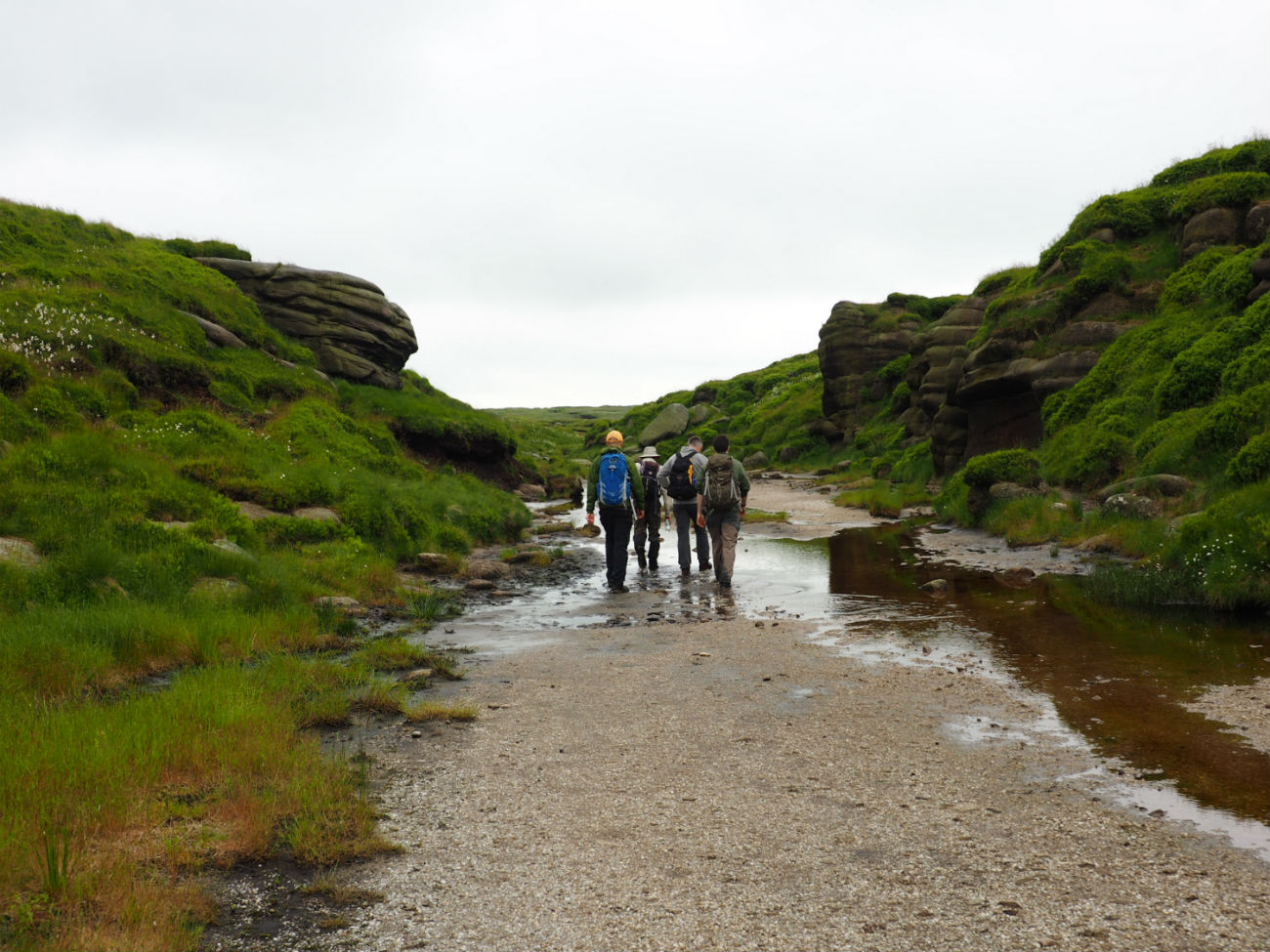 Group of walkers at Kinder Scout