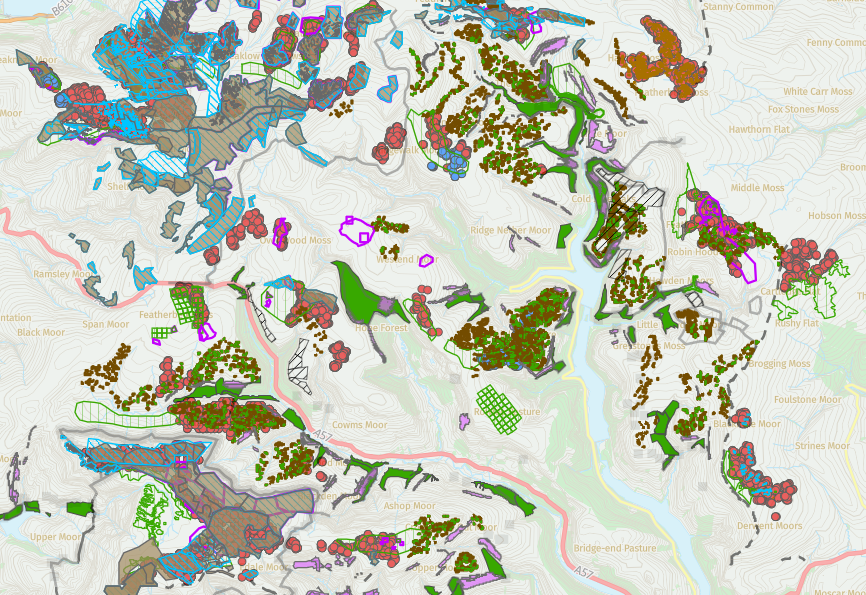 A map of conservation work