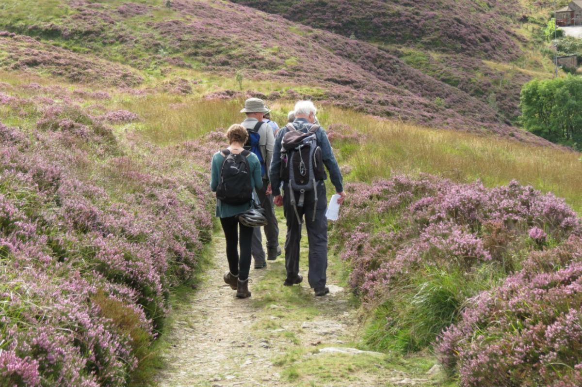Group of walkers at Marsden Moor