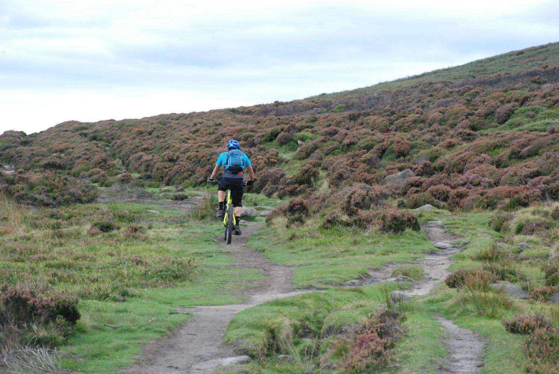 Cyclist on Cutthroat Track