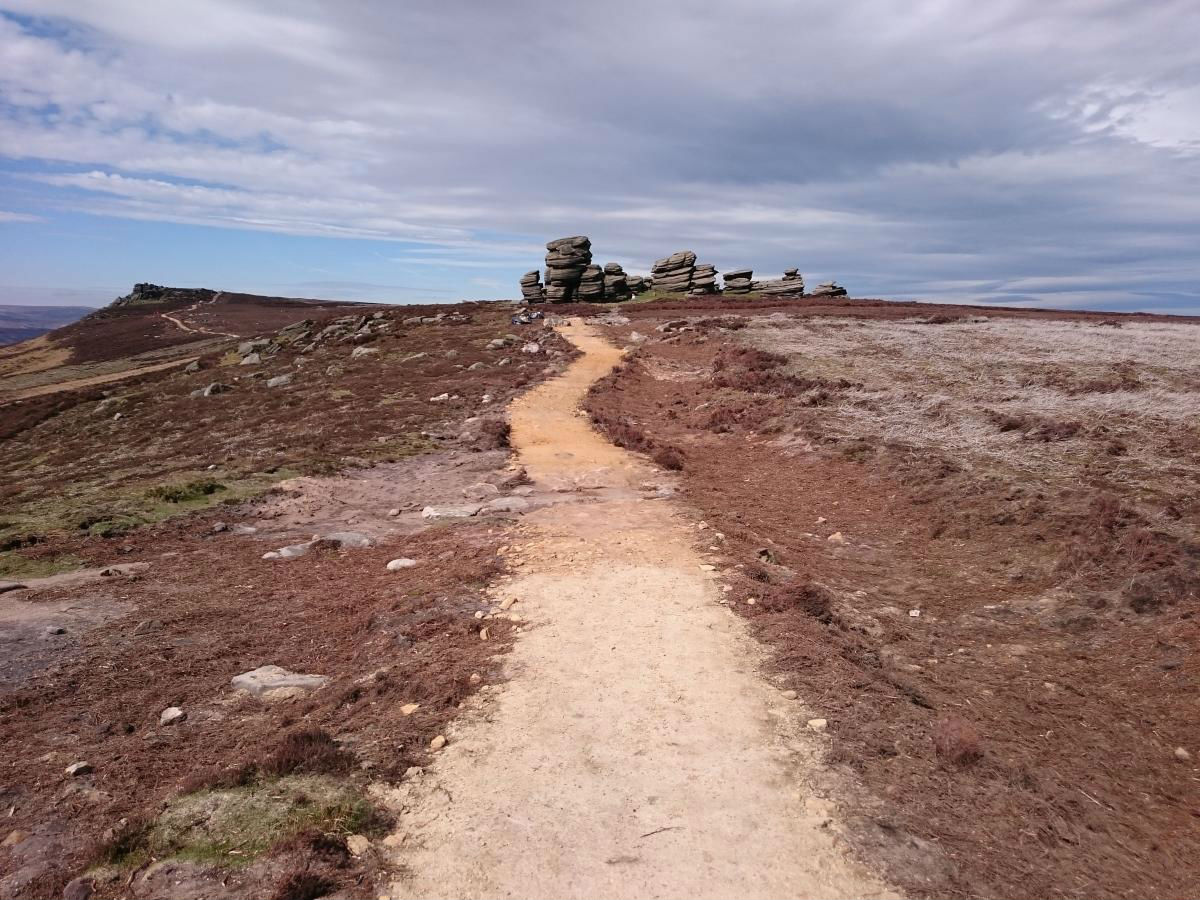 Whinstone Lee Tor after footpath works