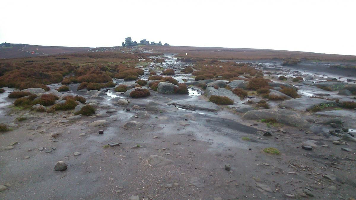 Whinstone Lee Tor before footpath works