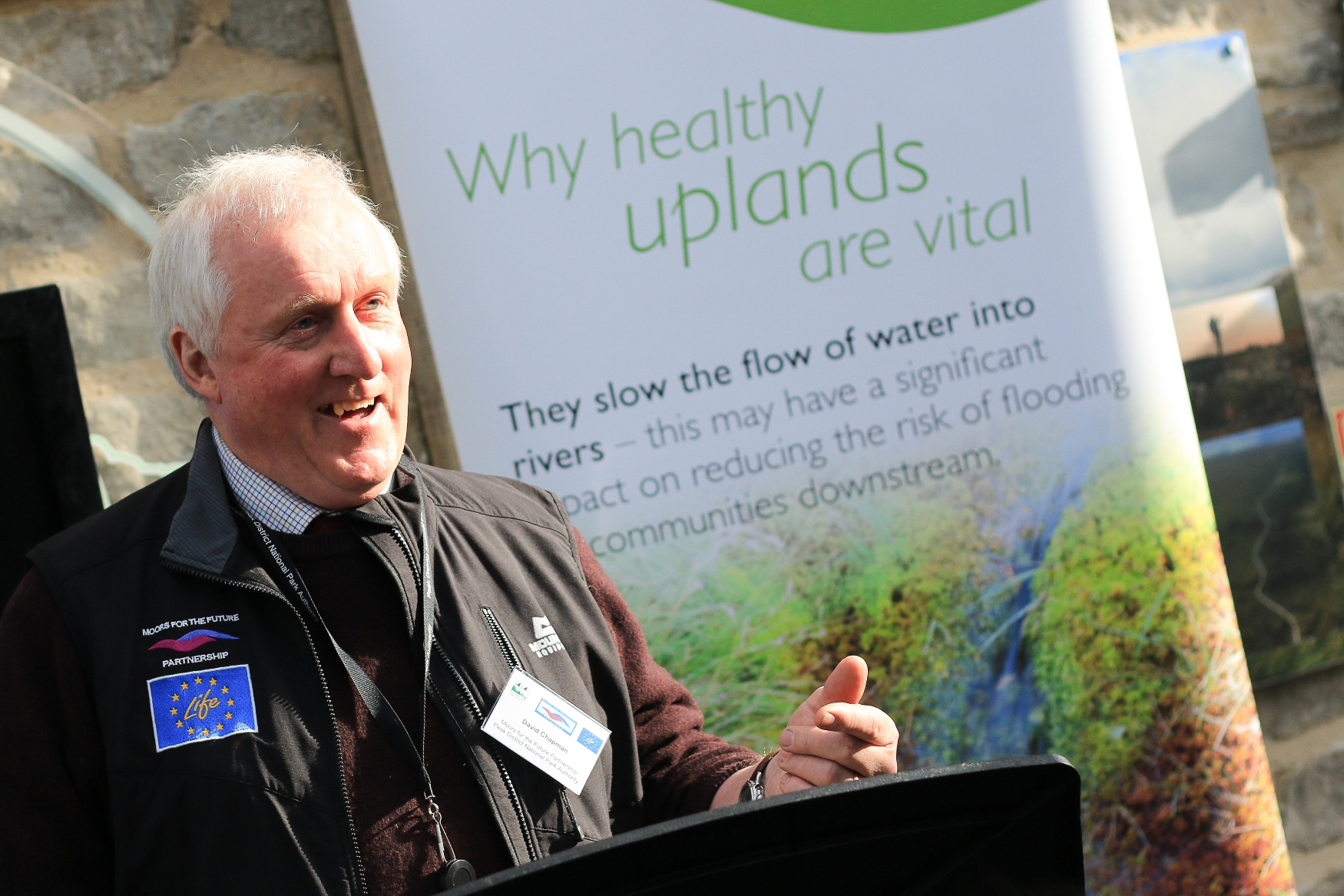 David Chapman, Moors for the Future Chair and Deputy Chair of the Peak District National Park Authority