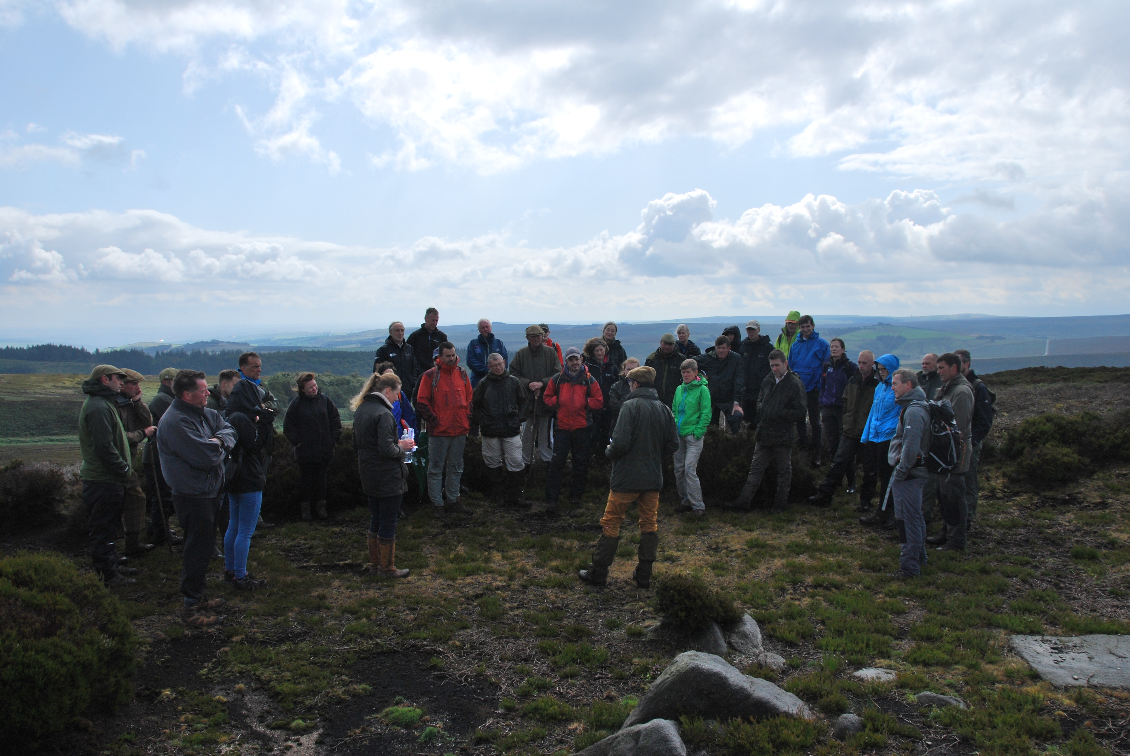 The Heather Trust Conference site visit to Bradfield Moor