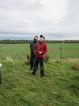 Two members of the team flying the Unmanned Aerial Vehicle