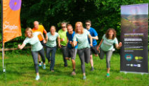 Group of runers from the Peak District National Park Authority preparing for the race